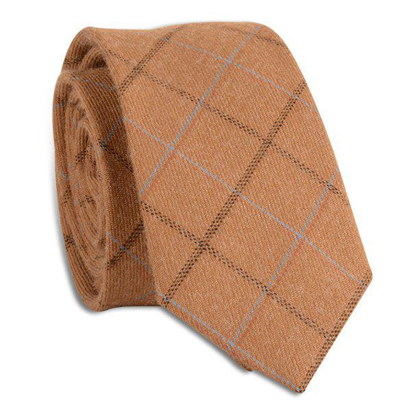 Wrinkle Resistant Large Plaid Neck Tie - GINGER