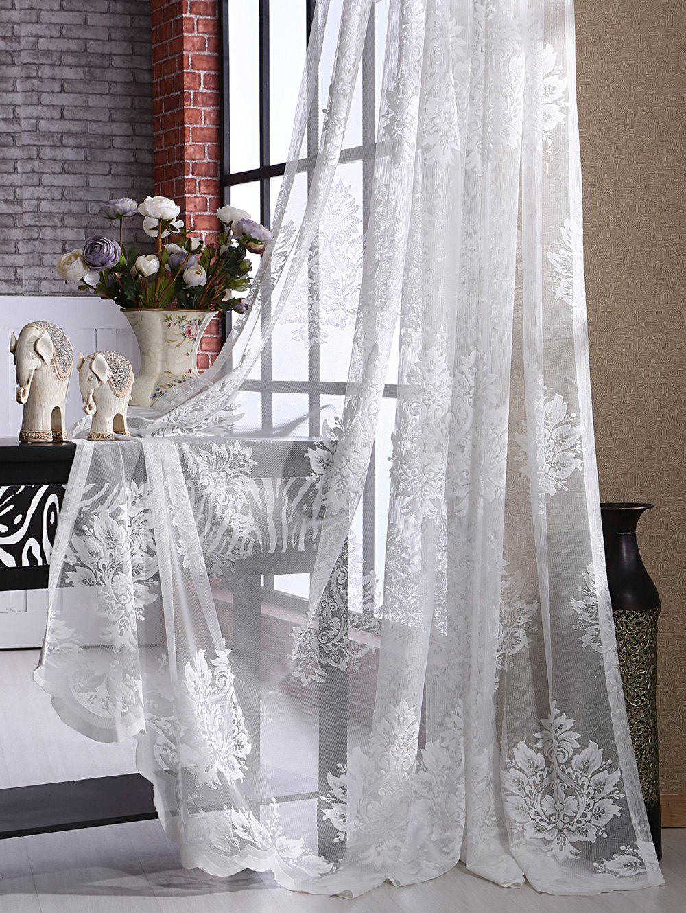 2018 rideau en tulle transparente pour balcon fen tre et porte blanc largeur pouces longueur. Black Bedroom Furniture Sets. Home Design Ideas