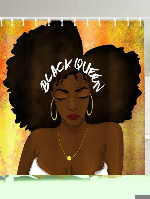 Hip Hop Afro Hair Queen Pattern Shower Curtain