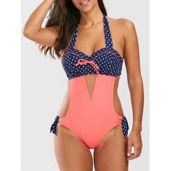 Halter Polka Dot Push Up Swimsuit