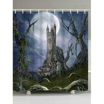 Vintage European Castle Shower Curtain
