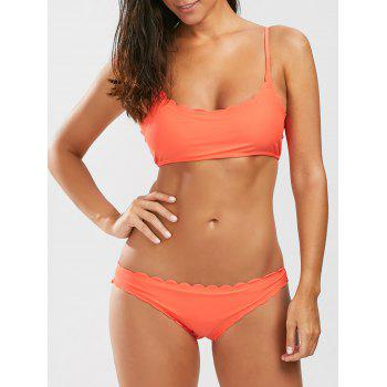 Scalloped Padded Bikini Set