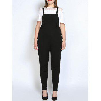 Plus Size Strap Narrow Leg Pinafore Pants