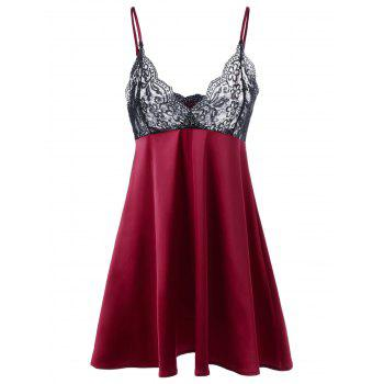 Scalloped Edge Lace Trim Babydoll