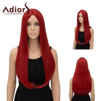 Adiors Long Straight Middle Part Tail Adduction Synthetic Wig