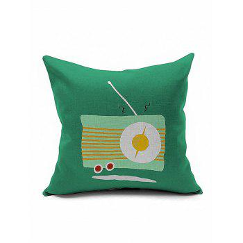 Vintage Radio Print Cushion Cover Pillow Case