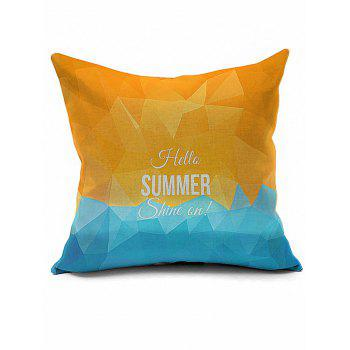 Vintage Hello Summer Geometric Print Decorative Pillow Case