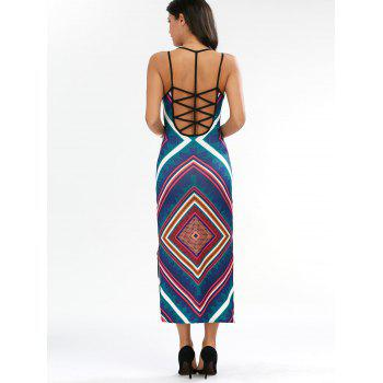 Criss Cross Tank Backless Maxi Dress