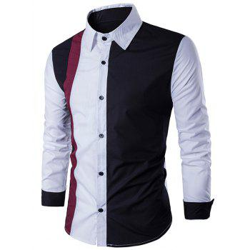 Color Block Long Sleeve Panel Shirt