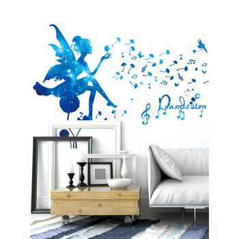 Music Note Fairy Dandelion Wall Sticker