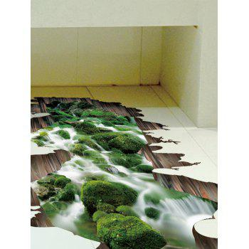 Removable 3D Stream Floor Sticker - GREEN 50*70CM