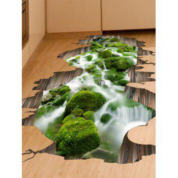 Removable 3D Stream Floor Sticker