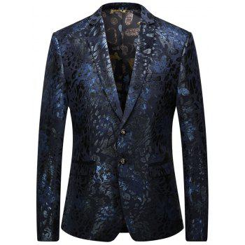 Rubber Print Single Blessé Blazer
