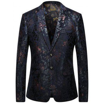 Rubber Print Single Breasted Blazer