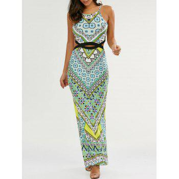 Cut Out High Slit Maxi Dress