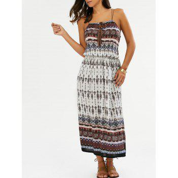 Printed Tassel Bohemian Slip Dress