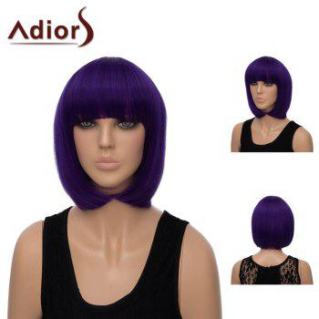 Adiors Short Silky Straight Neat Bang Bob Synthetic Wig