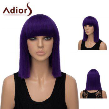 Adiors Medium Straight Neat Bang Bob Synthetic Wig