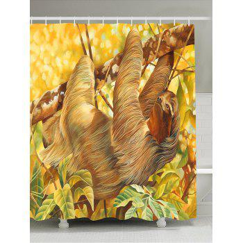Sloth on Tree Shower Curtain