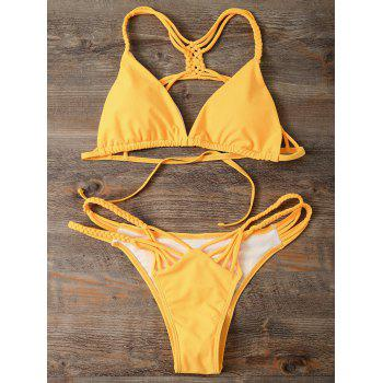 Cutout Strappy Skimpy Bikini Set