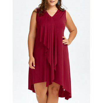 Plus Size Drape Front Sleeveless Dress