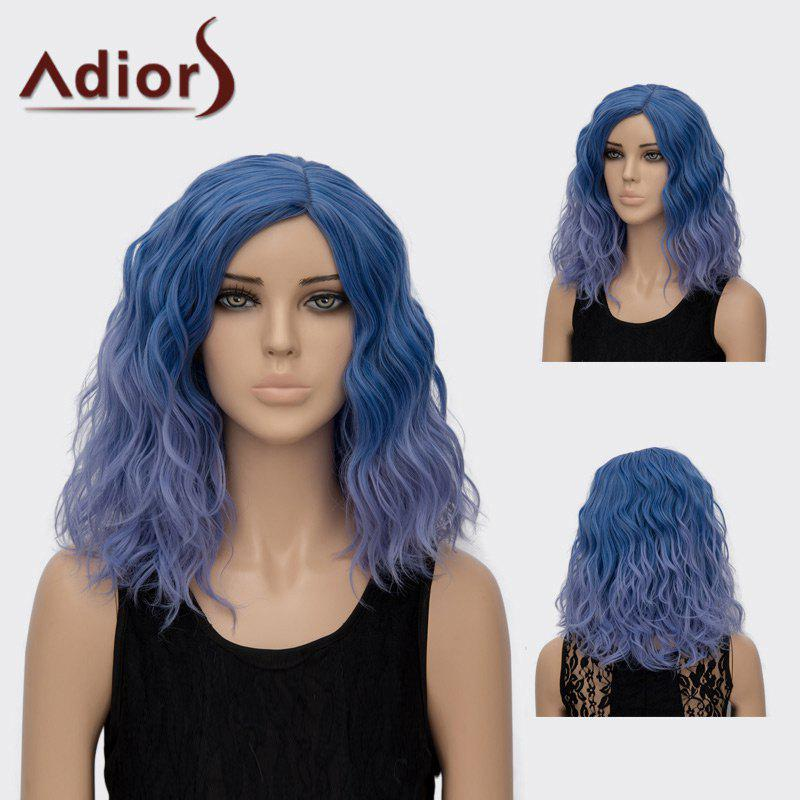 Adiors Medium Curly Side Part Colormix Synthetic Wig adiors long side part colormix layered curly synthetic wig