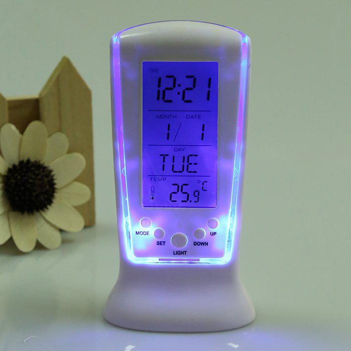 2018 Multifunction LCD Digital Alarm Clock WHITE In Other ...