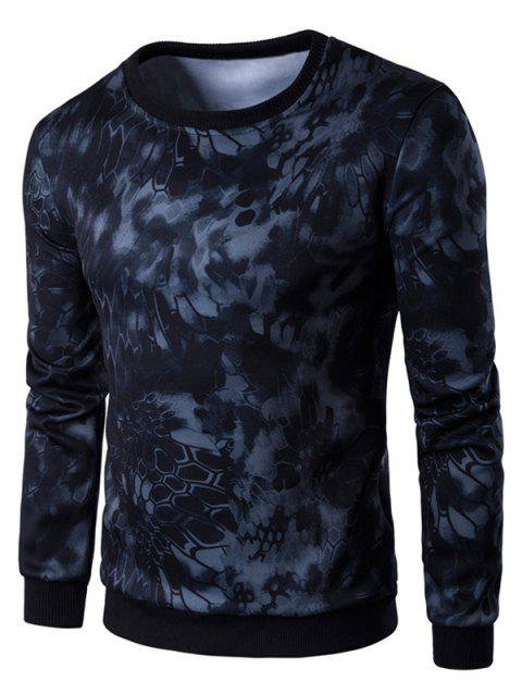e23057ed49b4 2019 3D Snake Skin Print Long Sleeve Sweatshirt In BLACK 2XL ...