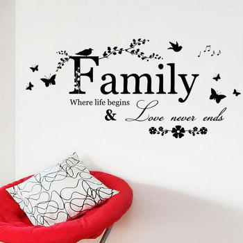 Family Quote Wall Sticker For Living Room