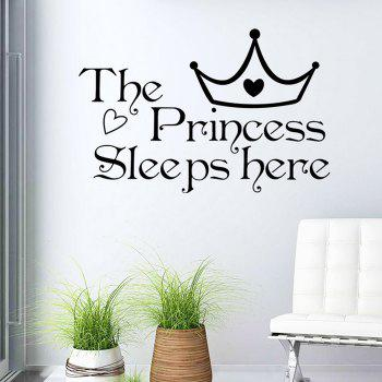 Princess Crown Wall Stickers For Bedrooms