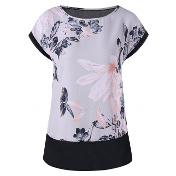 Floral Painting Chiffon Blouse