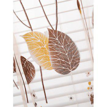 Leaf Sheer Window Curtain - KHAKI W40INCH*L79INCH