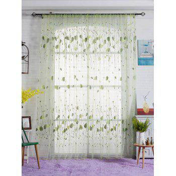 Leaf Sheer Window Curtain