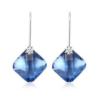 Fake Crystal Geometric Drop Earrings