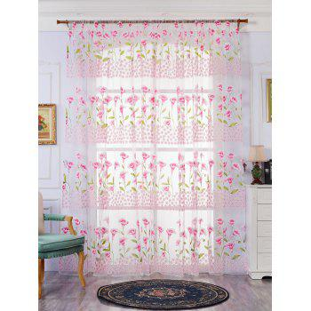 Calla Lily Sheer Window Curtain - PAPAYA PAPAYA