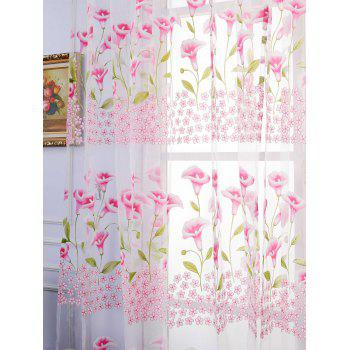 Calla Lily Sheer Window Curtain - PAPAYA W40INCH*L79INCH