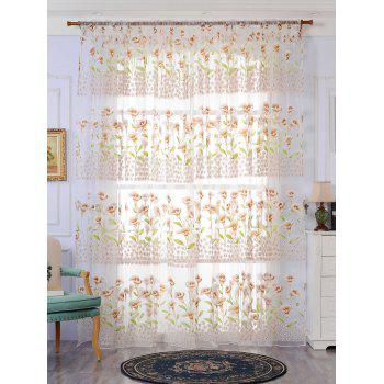 Calla Lily Sheer Window Curtain