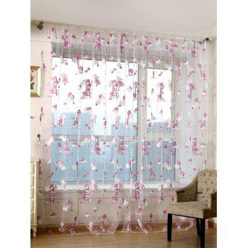 Transparent Cartoon Bear Window Curtain - TRANSPARENT W40INCH*L79INCH
