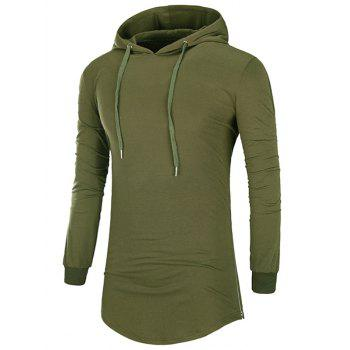 Hooded Side Zip Up Design T-Shirt