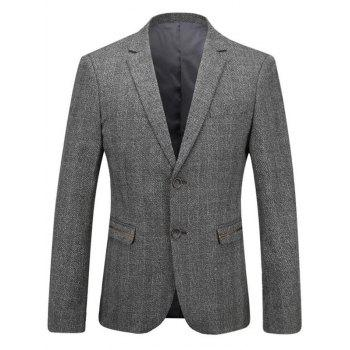 Single Breast Tweed Heather Blazer