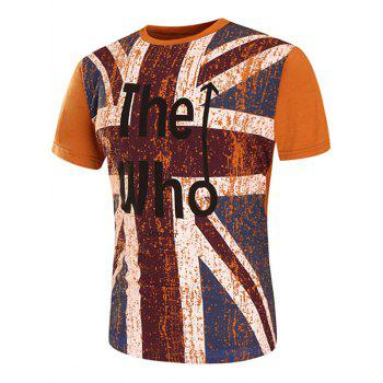 Distressed England Flag Graphic Print T-Shirt