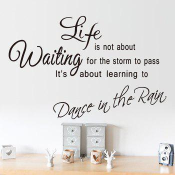Life Quote Wall Stickers For Living Room