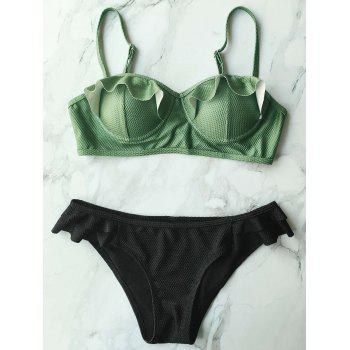 Push Up Cami Bathing Suit with Ruffles