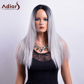 Adiors Long Middle Part Gradient Straight Synthetic Wig
