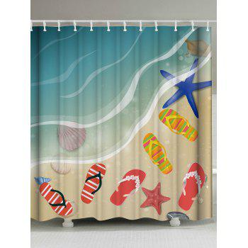 Bath Decor Beach Shoes Shower Curtain