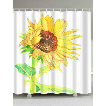Sunflower Watercolor Extra Long Shower Curtain