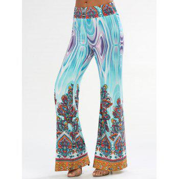 Flowy Wide Leg Pants with Arab Print