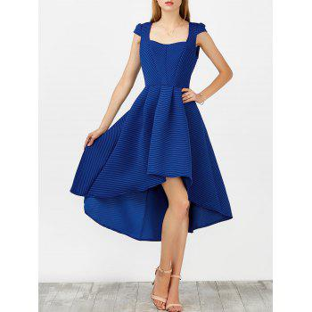 Square Collar High Low Party Dress