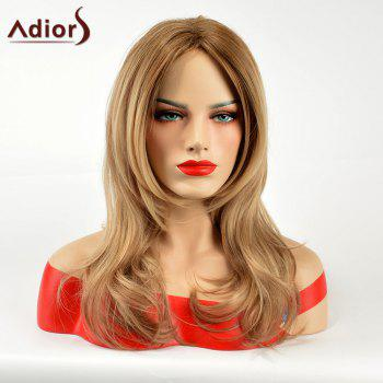 Adiors Long Middle Part Straight Slightly Curled Synthetic Wig