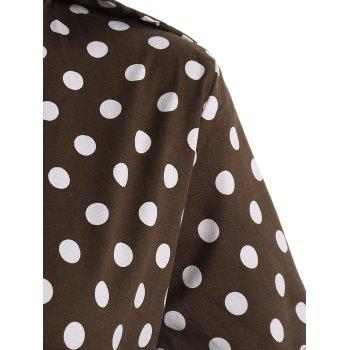 Plus Size A Line Polka Dot Casual Dress - 3XL 3XL